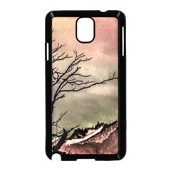 Fantasy Landscape Illustration Samsung Galaxy Note 3 Neo Hardshell Case (Black)