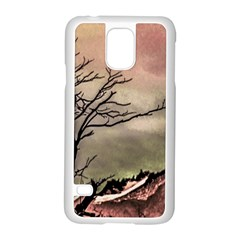 Fantasy Landscape Illustration Samsung Galaxy S5 Case (White)