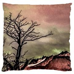 Fantasy Landscape Illustration Large Flano Cushion Case (Two Sides)