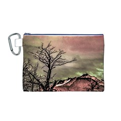 Fantasy Landscape Illustration Canvas Cosmetic Bag (M)