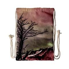 Fantasy Landscape Illustration Drawstring Bag (Small)