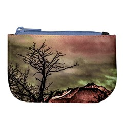 Fantasy Landscape Illustration Large Coin Purse