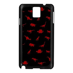 Dinosaurs pattern Samsung Galaxy Note 3 N9005 Case (Black)