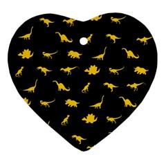 Dinosaurs pattern Ornament (Heart)