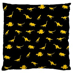 Dinosaurs pattern Large Flano Cushion Case (Two Sides)