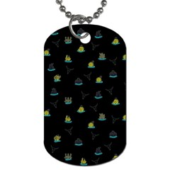 Cactus pattern Dog Tag (One Side)