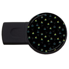 Cactus pattern USB Flash Drive Round (2 GB)