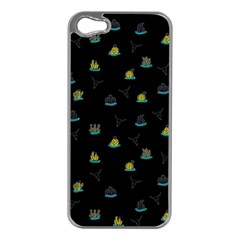 Cactus pattern Apple iPhone 5 Case (Silver)