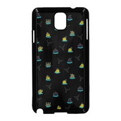 Cactus pattern Samsung Galaxy Note 3 Neo Hardshell Case (Black)