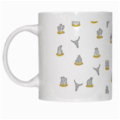 Cactus pattern White Mugs