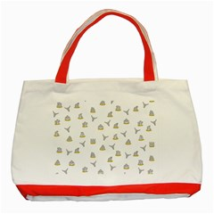 Cactus pattern Classic Tote Bag (Red)