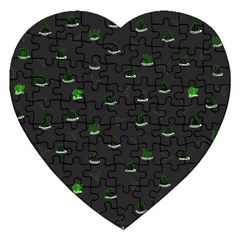 Cactus pattern Jigsaw Puzzle (Heart)