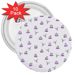 Cactus pattern 3  Buttons (10 pack)