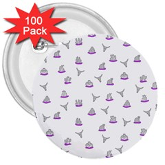Cactus pattern 3  Buttons (100 pack)