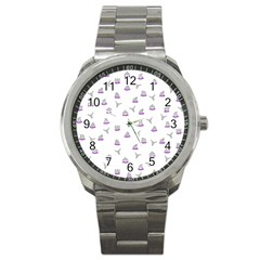 Cactus pattern Sport Metal Watch