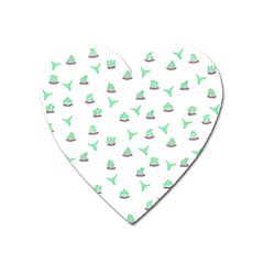 Cactus pattern Heart Magnet