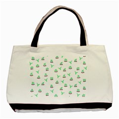 Cactus pattern Basic Tote Bag (Two Sides)