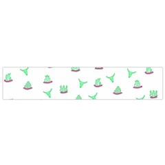 Cactus pattern Flano Scarf (Small)