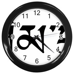 Thimphu  Wall Clocks (Black)