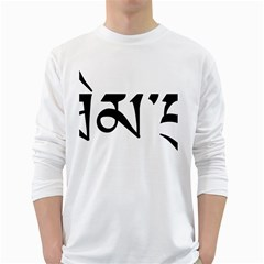 Thimphu White Long Sleeve T-Shirts
