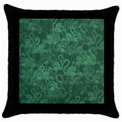 Flamingo pattern Throw Pillow Case (Black)
