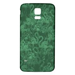Flamingo pattern Samsung Galaxy S5 Back Case (White)