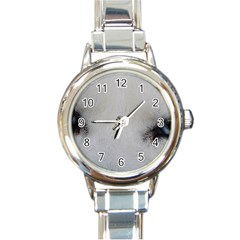 Akita Inu White Eyes Round Italian Charm Watch