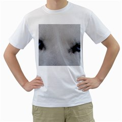 Akita Inu White Eyes Men s T-Shirt (White) (Two Sided)