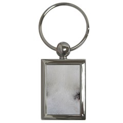 Akita Inu White Eyes Key Chains (Rectangle)