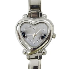 Akita Inu White Eyes Heart Italian Charm Watch