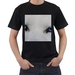 Akita Inu White Eyes Men s T-Shirt (Black) (Two Sided)
