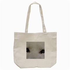 Akita Inu White Eyes Tote Bag (Cream)