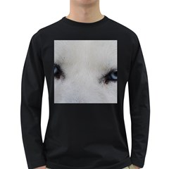 Akita Inu White Eyes Long Sleeve Dark T-Shirts