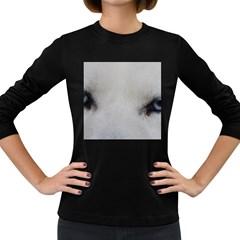 Akita Inu White Eyes Women s Long Sleeve Dark T-Shirts