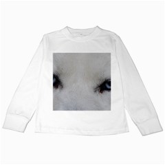 Akita Inu White Eyes Kids Long Sleeve T-Shirts