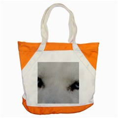 Akita Inu White Eyes Accent Tote Bag