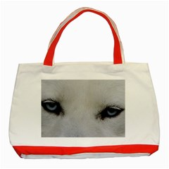 Akita Inu White Eyes Classic Tote Bag (Red)