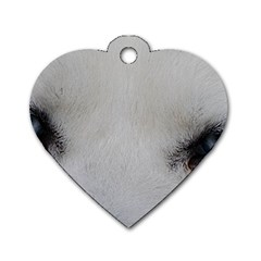Akita Inu White Eyes Dog Tag Heart (Two Sides)