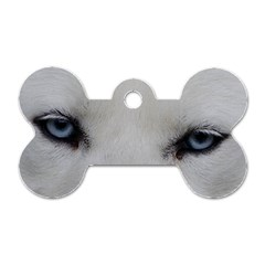 Akita Inu White Eyes Dog Tag Bone (Two Sides)