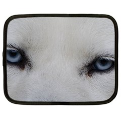 Akita Inu White Eyes Netbook Case (Large)