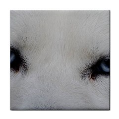 Akita Inu White Eyes Face Towel