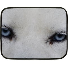 Akita Inu White Eyes Fleece Blanket (Mini)