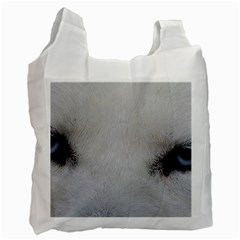 Akita Inu White Eyes Recycle Bag (One Side)