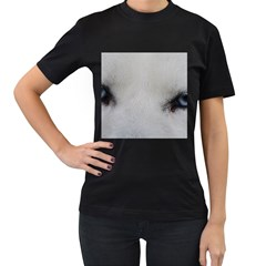 Akita Inu White Eyes Women s T-Shirt (Black)