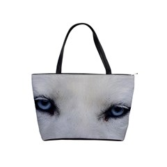Akita Inu White Eyes Shoulder Handbags