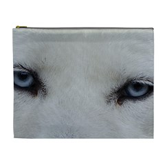 Akita Inu White Eyes Cosmetic Bag (XL)