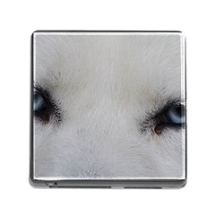 Akita Inu White Eyes Memory Card Reader (Square)