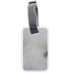 Akita Inu White Eyes Luggage Tags (One Side)