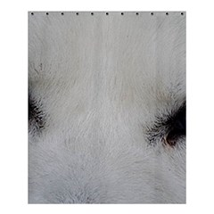 Akita Inu White Eyes Shower Curtain 60  x 72  (Medium)