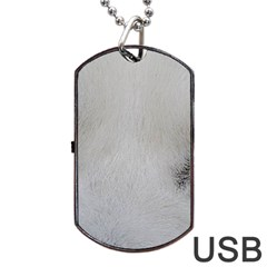 Akita Inu White Eyes Dog Tag USB Flash (One Side)